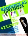 Fabricación de Banderolas Tipo Gota tel:42337859