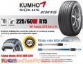 Cauchos Kumho Solus KH15 225/60W R15