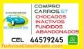 COMPRO CARROS, CHOCADOS, FUNDIDOS, INACTIVOS, ABANDONADOS