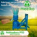 Maquina Meelko para pellets con madera 260 mm PTO