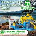 Extrusora MKEW090B pellets flotantes para peces