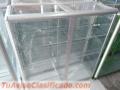 Gran promoción de vitrinas mostrador en aluminio, vidrio y rodachinas entrega inmediata