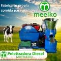Peletizadora 230 mm 22 hp DIESEL para concentrados balanceados 300-400 kg/h - MKFD230A