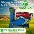 45-80 kg/h - MKFD120A Máquina para pellets con madera 120 mm diésel