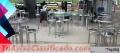Alquiler y venta de mesas y sillas cocteleras- barra coctelera en Bogotá Colombia