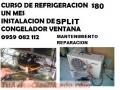 APRENDE REFRIGERACION $80 UN MES APRENDE INSTALACION DE SPLIT REPARACION DE NEVERA  CONGEL