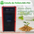 Estufa de Pellets, MEELKO.  MK-P02