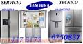 SERVICIO TECNICO REFRIGERADORAS SAMSUNG TEL:6750837