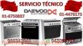 Servicio tecnico cocinas daewoo 6750837