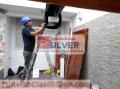 Puertas levadizas seccionales cercos eléctricos silver