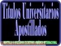 Apostilla de Títulos Universitarios, Diplomas o Documentos Académicos
