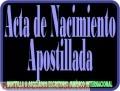 Apostilla de Acta de Matrimonio /Nacimiento/ Antecedentes Apostilla de la Haya