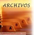TODO ARCHIVOS. Cuidamos y conservamos todo tipo de archivos a particulares y/o empresas.