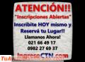 Colegio Tecnico Nacional - Ingreso CTN - Cursillo de Ingreso - Inscripciones Abiertas