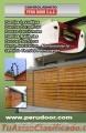 Puertas Seccionales de garaje a control remoto PERU DOOR Telf 4623061