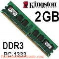 MEMORIA DDR3 2GB 1333 MHZ KINGSTON