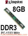 MEMORIA DDR3 8GB 1333 MHZ KINGSTON