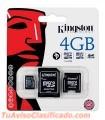 MEMORIA CON ADAPTADOR 4GB MICRO 2X1