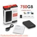 DISCO DURO EXTERNO 750 GB 3.0 USB TOSHIBA NEGRO