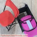 Vendo sillas plegables reforzadas infantiles