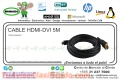 CABLE HDMI-DVI 5M