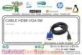 CABLE HDMI-VGA 5M
