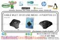 CABLE MULT. 35125 USB IMEXX - 4 PUERTOS 2.0