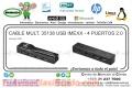 CABLE MULT. 35138 USB IMEXX - 4 PUERTOS 2.0