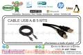 CABLE USB A-B 5 MTS