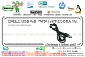 CABLE USB A-B PARA IMPRESORA 1M