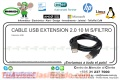 CABLE USB EXTENSION 2.0 10 M S/FILTRO