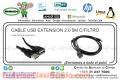 CABLE USB EXTENSION 2.0 5M C/FILTRO
