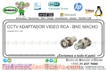 CCTV ADAPTADOR VIDEO RCA - BNC MACHO