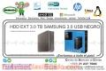 HDD EXT 3.0 TB SAMGUNG 3.0 USB NEGRO