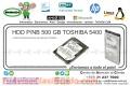 HDD P/NB 500 GB TOSHIBA 5400