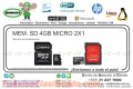 MEM. SD 4GB MICRO 2X1