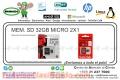 MEM. SD 32GB MICRO 2X1