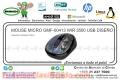 MOUSE MICRO GMF-00413 WIR 3500 USB DISEÑO