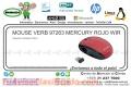 MOUSE VERB 97263 MERCURY ROJO WIR