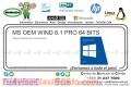 MS OEM WIND 8.1 PRO 64 BITS