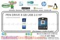 PEN DRIVE 8 GB USB 2.0 HP