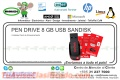 PEN DRIVE 8 GB USB SANDISK