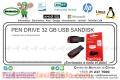 PEN DRIVE 32 GB USB SANDISK
