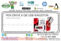 PEN DRIVE 8 GB USB KINGSTON