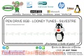 PEN DRIVE 8GB - LOONEY TUNES - SILVESTRE