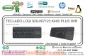 TECLADO LOGI 920-007123 K400 PLUS WIR