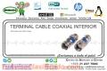 TERMINAL CABLE COAXIAL INTERIOR