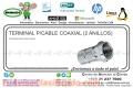 TERMINAL P/CABLE COAXIAL (2 ANILLOS)