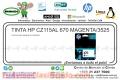 TINTA HP CZ115AL 670 MAGENTA/3525