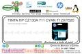TINTA HP CZ130A 711 CYAN T120/T520